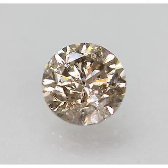 Cert 1,34 Karat Fancy Brown SI1 Runde brillante natürliche lose Diamant 6,86 mm