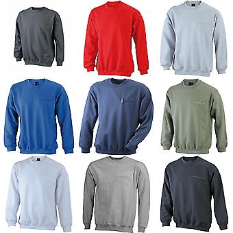 James en Nicholson Mens ronde Pocket Sweatshirt