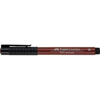 فابر كاستيل الحبر الهندي الفنان القلم فرشاة 192 الأحمر الهندي