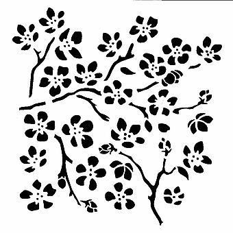 IndigoBlu Cherry Blossom 6x6 Inch Stencil