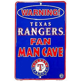 Texas Rangers MLB Fan Man Cave Parking Sign
