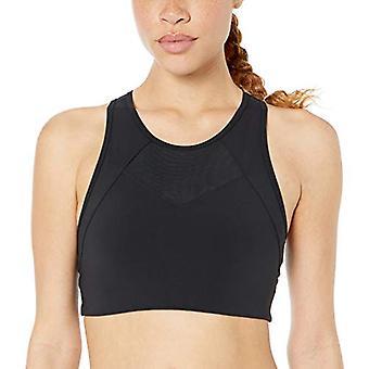 Core 10 Frauen's Standard Onstride Back Cut-Out Workout Sport BH, schwarz, XL (16)