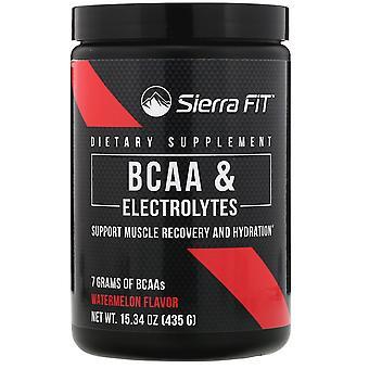 Sierra Fit, BCAA & Electrolytes, 7G BCAAs, Watermelon, 15.34 oz (435 g)