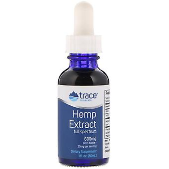Trace Minerals Research, Hennep Extract, 600 mg, 1 fl oz (30 ml)