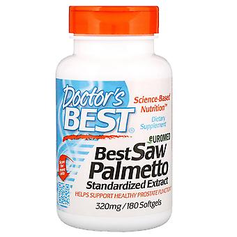 Doctor's Best, Euromed, Best Saw Palmetto, Standardized Extract, 320 mg, 180 Sof