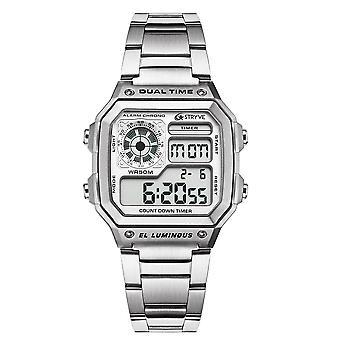 Moda sport wodoodporny mężczyźni luksusowy zegarek ze stali nierdzewnej