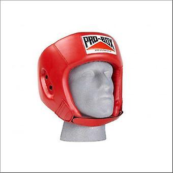 Pro box base spar boxing head guard - red