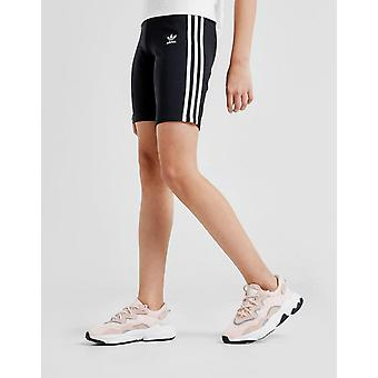 New adidas Originals Girls' 3-Stripes Cycle Shorts Black/White