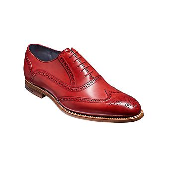 Barker Valiant - Red Hand Painted  | Mens Handmade Leather Oxford Brogues | Barker Shoes