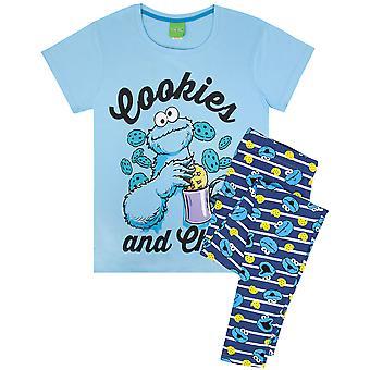 Cookie Monster Women's Ladies Adult's Pyjamas Nightwear PJ Set
