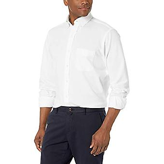 BUTTONED DOWN Men's Classic Fit Supima Cotton Stretch Knit Dress Shirt, White...