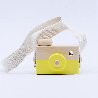 Nordic Cute Wooden Camera Toy, Photo Prop Decor Hanging Camera Toys, Kids
