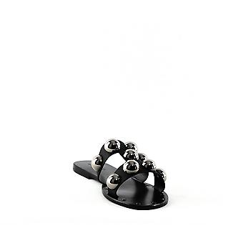 Schutz | Benedita Flat Leather Slide Sandals