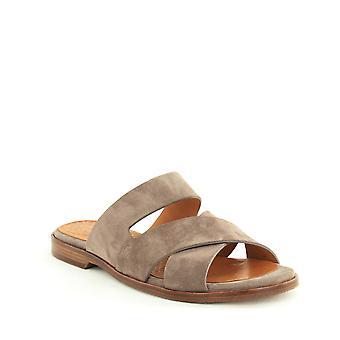 Chie Mihara | Wanda Suede Crisscross Slide Sandals