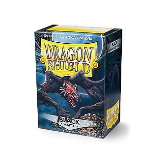 Dragon Shield 11002 Manches taille standard mate 100pk-Black (Pack de 10)