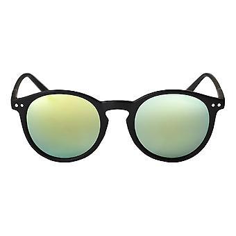 Cheapo Mavericks Sunglasses - Black / Green Yellow Mirror
