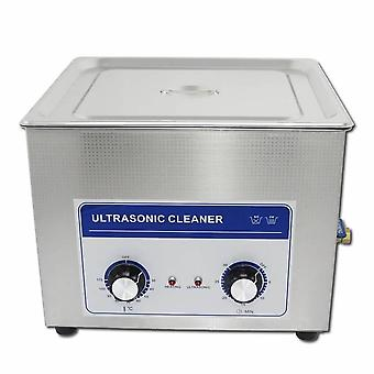 15l Professional Ultrasonic Cleaner Machine With Mechanical Timer Heated Stainless Steel Cleaning Tank 110v/220v