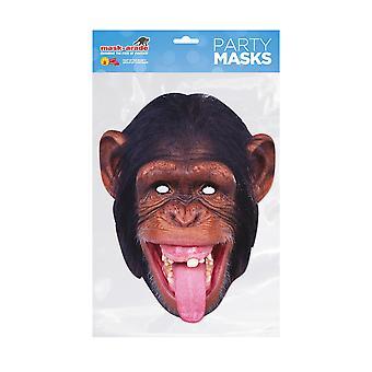 Mask-arade Chimpanzee Party Face Mask