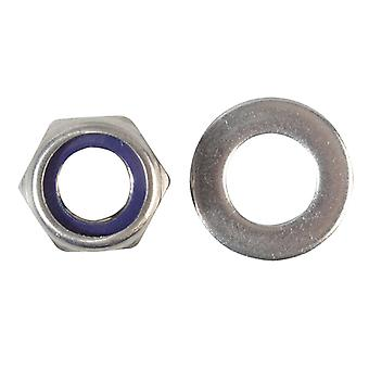 Forgefix Nyloc Nuts & Washers A2 Stainless Steel M12 Forge Pack 6 FORFPNYL12SS