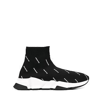 Balenciaga 525721w06501006 Kvinnor's Svart Nylon Hi Top Sneakers