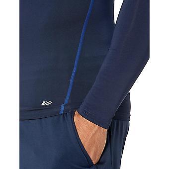 Essentials Men's Control Tech Long-Sleeve Shirt, Navy, Medium