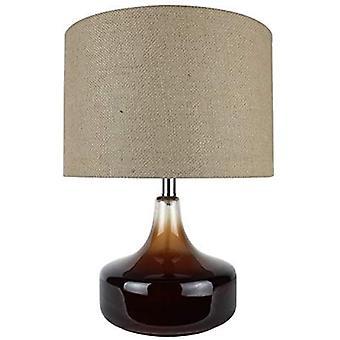 מנורת הדגשה מזכוכית חומה