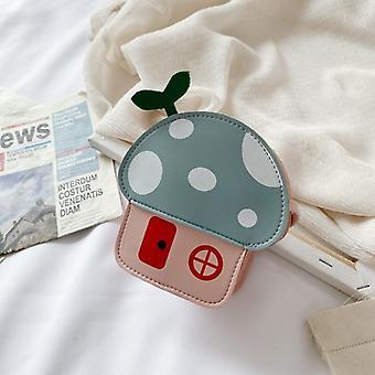 Lapset Pu nahka lompakko messenger laukku, söpö sarjakuva vauvan olkalaukut