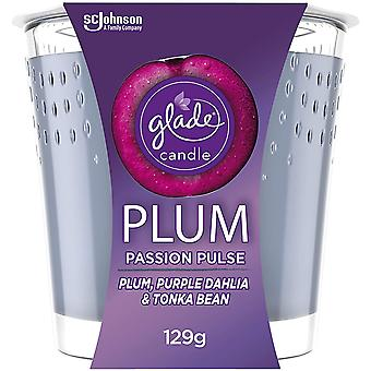 Glade Plum Passion Pulse Candle 129g
