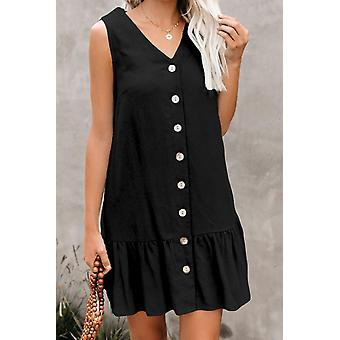 Sleeveless Button Down Tank Dress