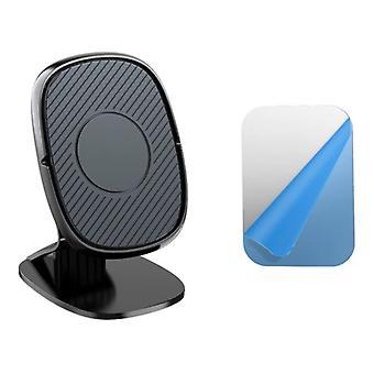 USLION Magneettinen puhelimen pidike auto kojelaudan jalustalla ja magneettitarralla - Yleinen älypuhelimen pidike musta