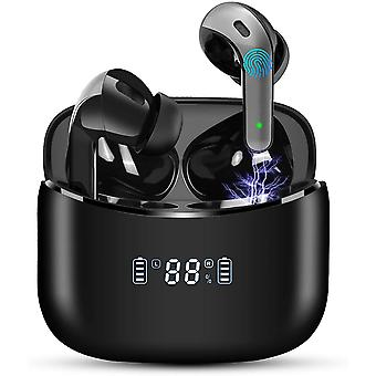 Wireless Earbuds Earphones Bluetooth 5.0 LED Display Noise Canceling IPX7 Waterproof 40H Playtime