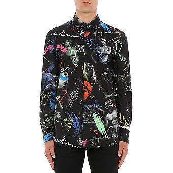 Moschino A021120541555 Männer's schwarze Baumwolle Shirt