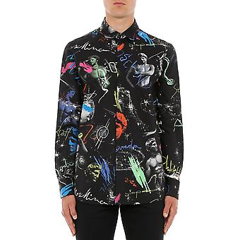 Moschino A0211205415555 Heren's Zwart Katoenen Shirt
