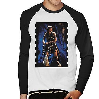 Xena Warrior Princess The Cave Men's Baseball Long Sleeved T-Shirt