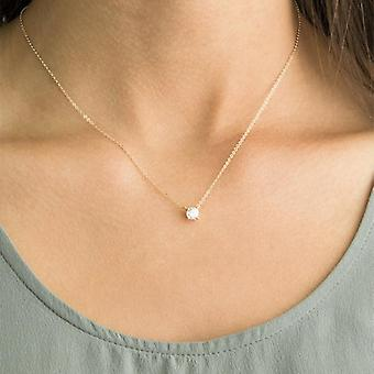 Shiny Zircon Invisible Transparent Thin Line Simple Choker Collier