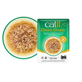 Catit Divine Shreds Tuna/Seabream & Wakame Soup (Cats , Cat Food , Wet Food)
