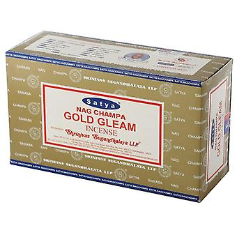 Nag champa sayta guld glimt røgelse sticks x 12 pakker