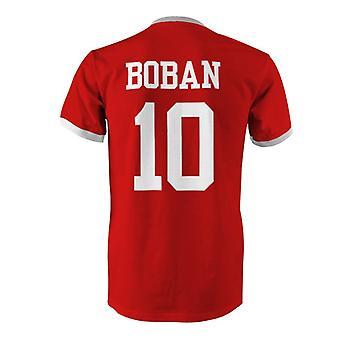 Zvonimir Boban 10 Croacia país Ringer t-shirt