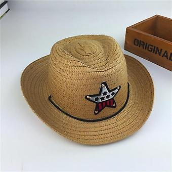 Outdoor's Jazz Hat Summer Straw Pięcioramienna Sun Cute&Apos;s Beach Visor