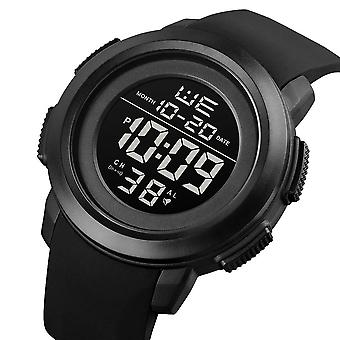 SKMEI 1719 Sport Men Watch Luminous Date Week Display 5ATM Waterproof Stopwatch