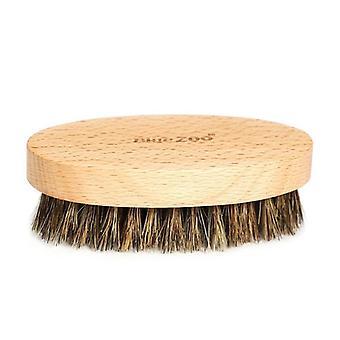 Păr de mistreț Bristle Menăs Beard Brush, Rotund Lemn de ras Pieptene Face Masaj