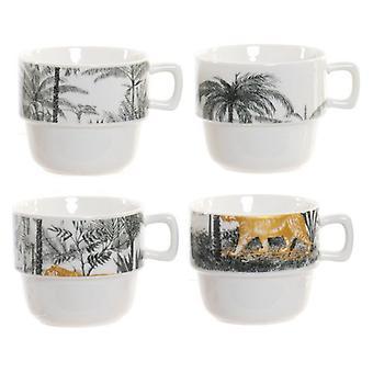 Piece Coffee Cup Set Dekodonia Jungle (200 ml) (4 szt.)