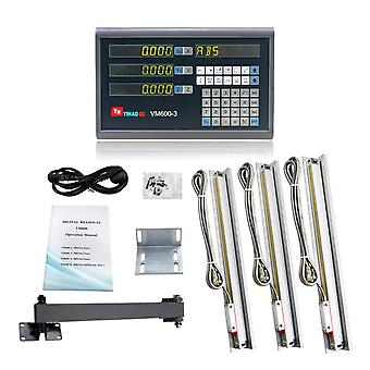3 Axis Lcd Dro Set Digital Readout System Display And 5u Linear Optical Ruler
