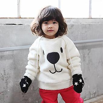 Niños abrigo de vellón de piel caliente chaqueta de felpar bebé