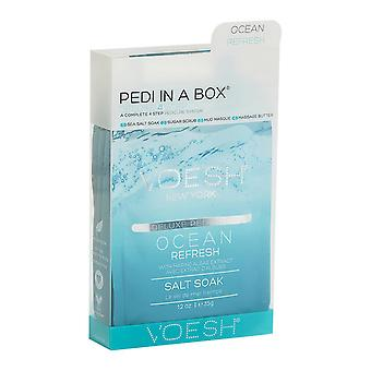 1pk of Voesh Ocean Refresh Deluxe 4 Step Pedicure In A Box with Algae&Peppermint