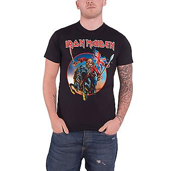 Iron Maiden T Shirt Euro Tour 2013 Trooper Band Logo Official Mens new Black