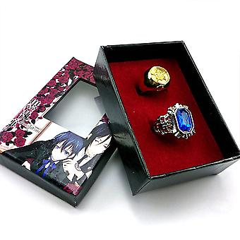 Animated Edition Black Butler & Charles Sapphire Ring Set