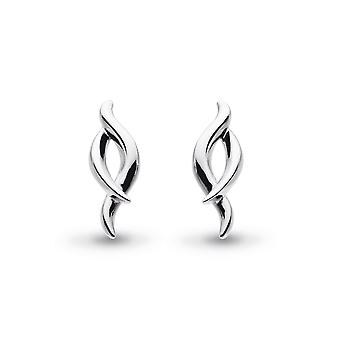 Kit Heath Entwine Twine Rhodium Plated Stud Boucles d'oreilles 40223RP