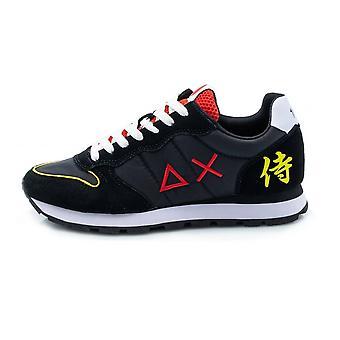 Running Sun68 Tom Japan Suede/ Nylon Black Sneaker Us21su19 Z31104