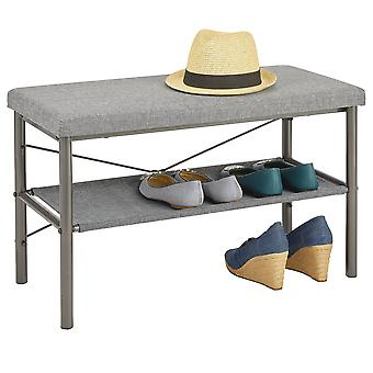 mDesign Entryway Bench with Shoe Shelf